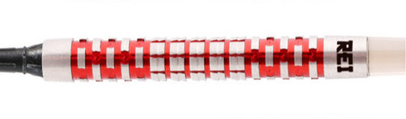 Shot Ronin Rei 1 Series Center Weighted 2ba Soft Tip Darts - 20g, 90% Tungsten, Red Hi Tec Particle Coating.