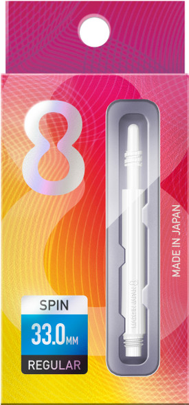 Target 8 Flight Spinning Shaft Medium White (33mm)