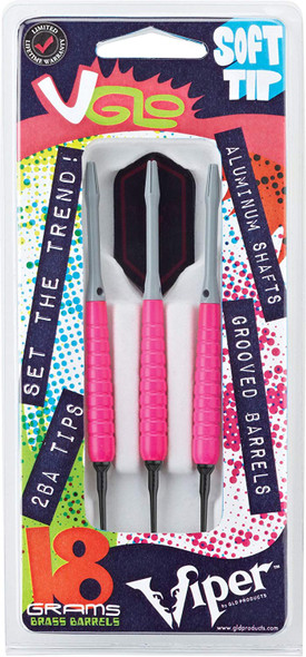 Viper V Glo Soft Tip Darts, Pink, 18g 20-4302-18