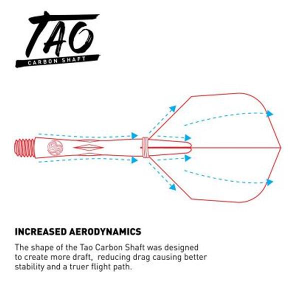 Shot Tao Carbon Dart Shafts With Spring Rings  - Medium