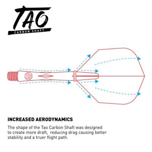 Shot Tao Carbon Dart Shafts With Spring Rings  - Short