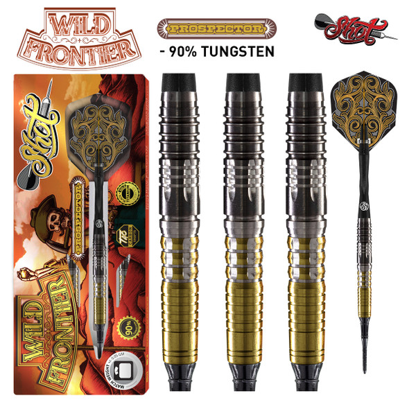 Shot Wild Frontier Prospector - Soft Tip Darts - 18g - Back Weighted