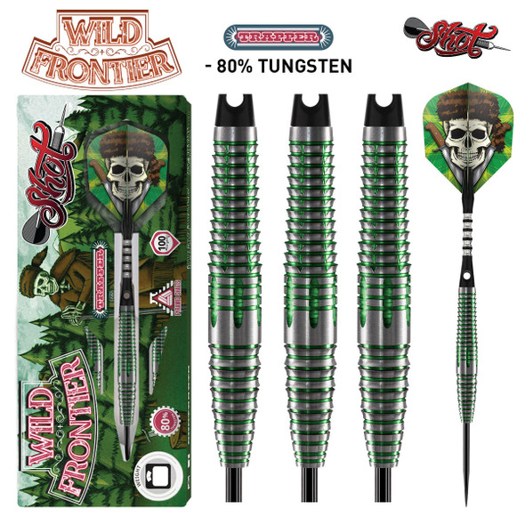 Shot Wild Frontier Trapper - Steel Tip Darts - 22 Front Weighted