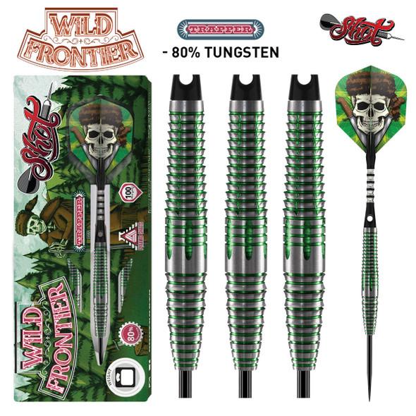 Shot Wild Frontier Trapper - Steel Tip Darts - 25 Front Weighted