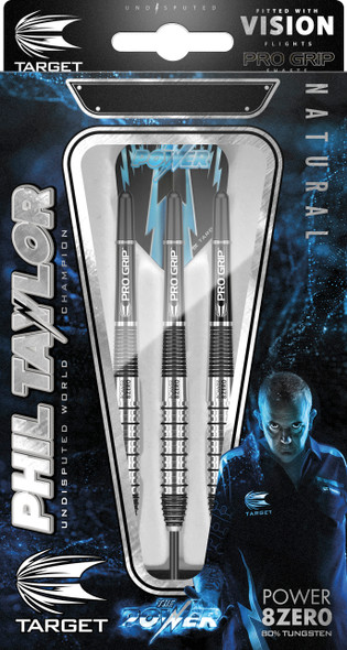 TARGET POWER 8ZERO 2 STEEL TIP DARTS - PHIL TAYLOR 26g