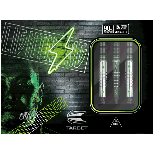 "Target Prime Series ""Lightning"" Chris Lim Soft Tip Darts 19gm"