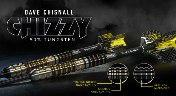 Harrows CHIZZY - Dave Chisnall Steel Tip Darts 23g