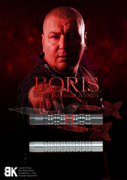 Dynasty A-Flow Boris Krcmar  Black Line Coated Soft Tip Darts 14.5g