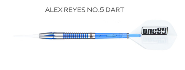 ONE80 Professional Perfection Alex Reyes 2ba Soft Tip Darts - 18g blue