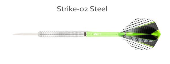 ONE80 Strike 02 - 80% Tungsten Steel Tip Darts 24g