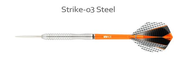 ONE80 Strike 03 - 80% Tungsten Steel Tip Darts 24g