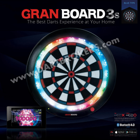 GRAN BOARD 3s Bluetooth Electronic Dartboard - Blue  DO NOT PAY- HIT THE PRINT AND CALL BUTTON at checkout.Pre-Order NOW! PAY LATER