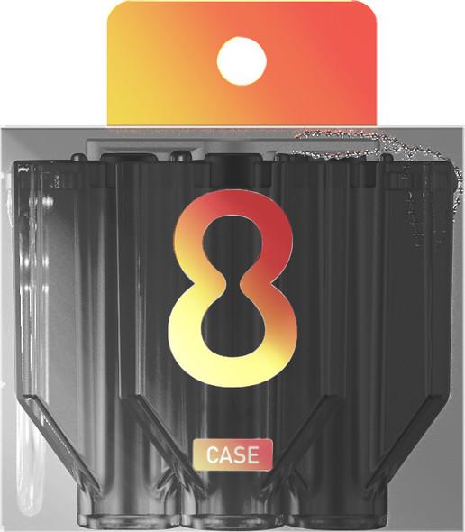 Target 8 FLIGHT CASE CLEAR Black
