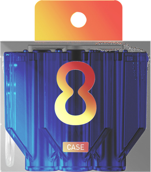 Target 8 FLIGHT CASE CLEAR BLUE