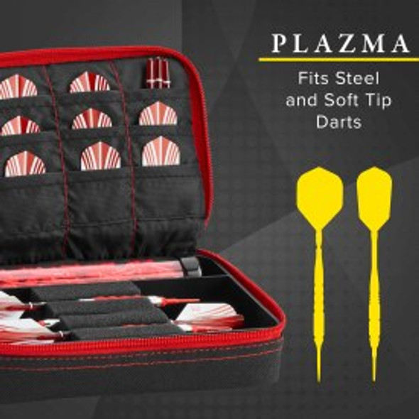 Casemaster Plazma Dart Case Black & Red
