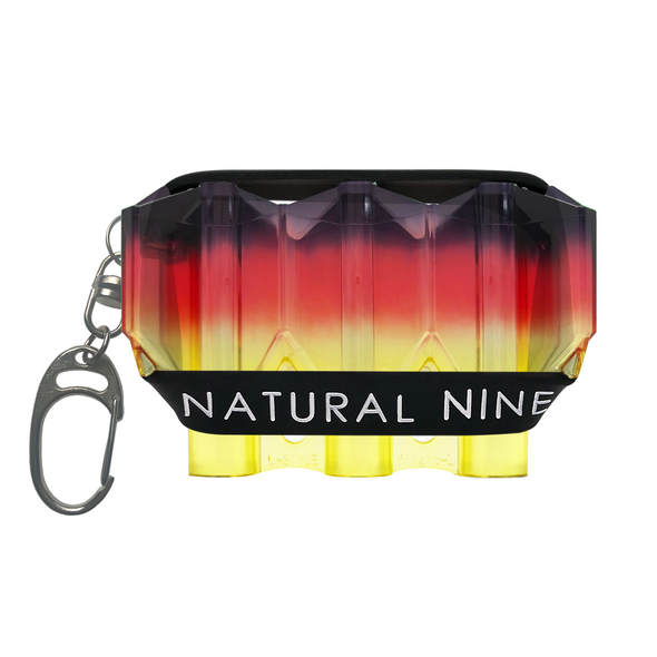 L-Style Krystal Flight Case  Natural Nine Tri Color Sunrise