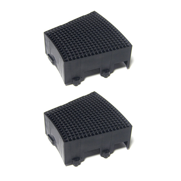 SEGMENT SINGLE SQUARE 2PCS Black