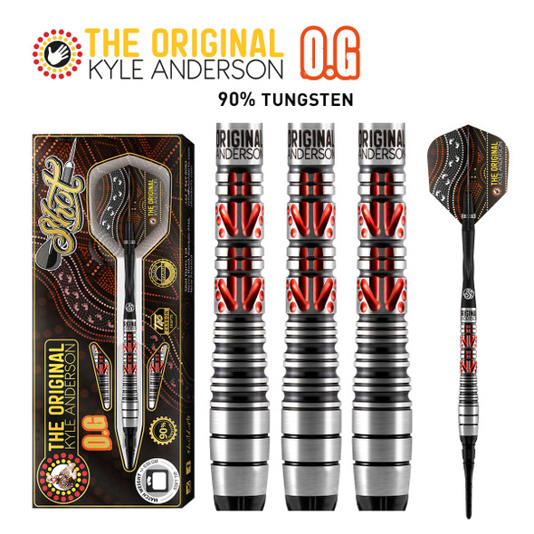SHOT Kyle Anderson O.G Soft Tip Darts 90% - 18GM