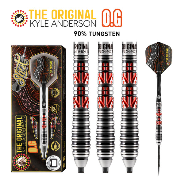 SHOT Kyle Anderson O.G Steel Tip Darts 90% - 26gm