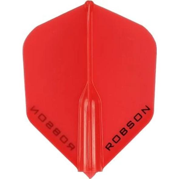 Robson Plus Dart Flights Shape Red