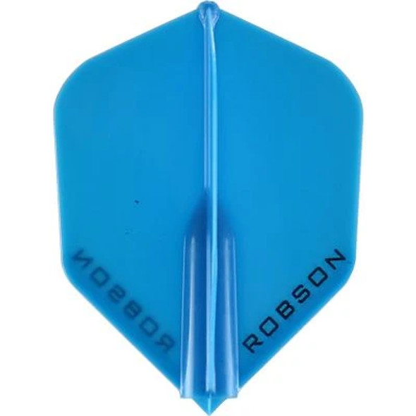 Robson Plus Dart Flights Shape Blue