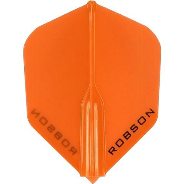 Robson Plus Dart Flights Shape Orange