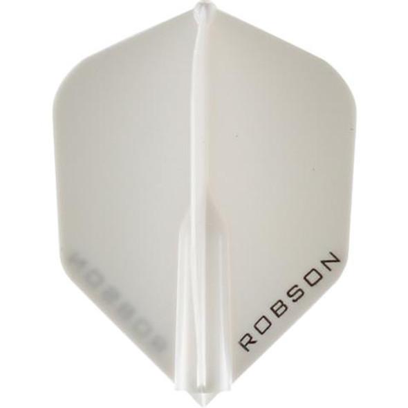 Robson Plus Dart Flights Shape Clear White