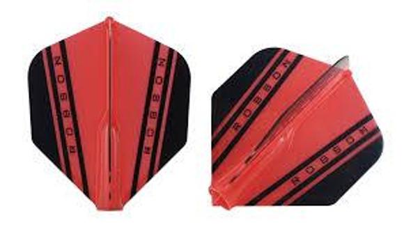 Robson Plus V Dart Flights Shape Red