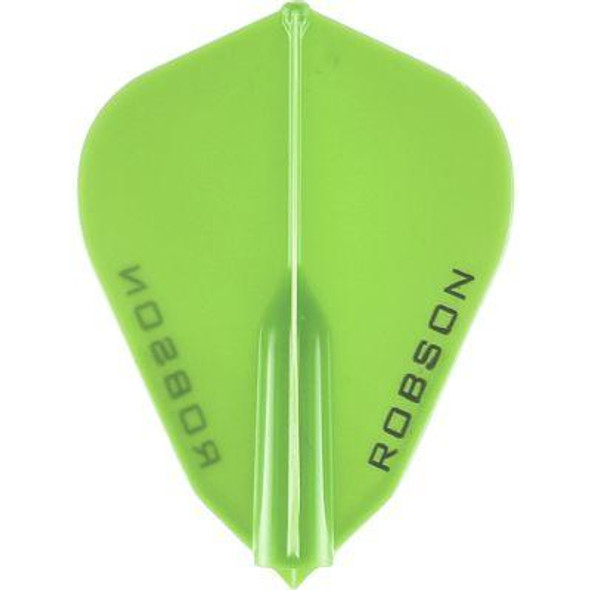 Robson Plus Dart Flights F Shape Lime