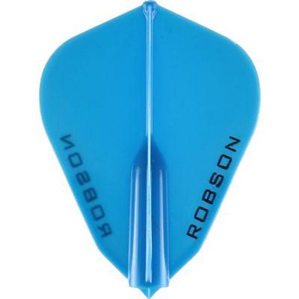Robson Plus Dart Flights F Shape Blue
