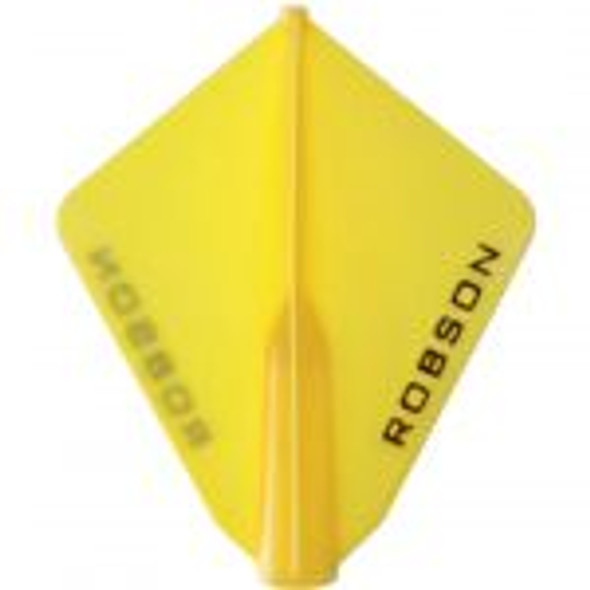 Robson Plus Dart Flights Astra Yellow