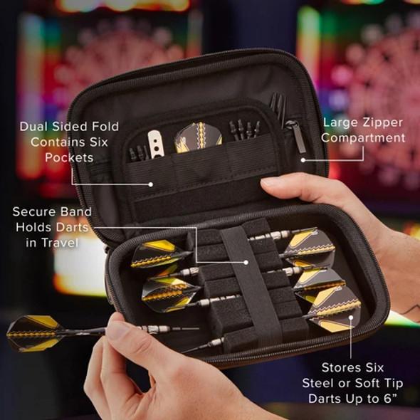 Casemaster Sentinel Dart Case - Gold Maze