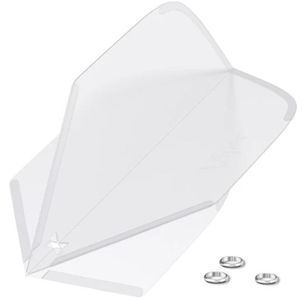 Viper Cool Flights Molded - Clear White Standard
