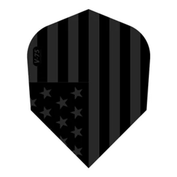 V-75 Dart Flights Standard American Flag Black Traditional