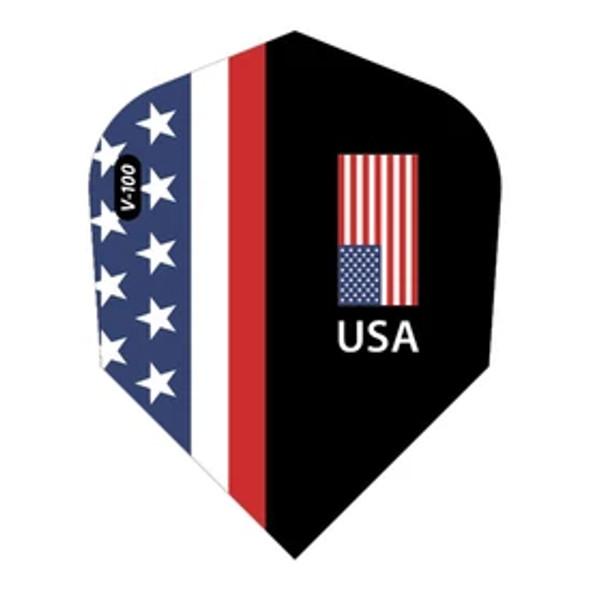 V-100 Dart Flights Standard American Flag USA