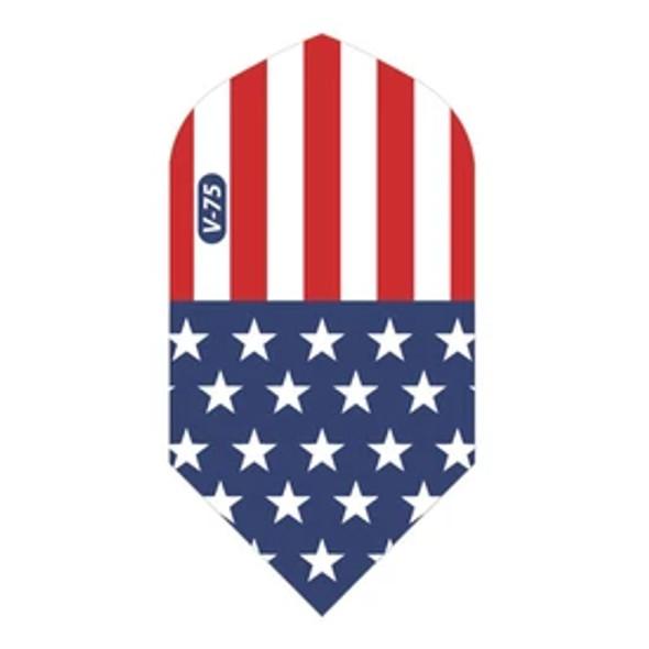 V-75 Dart Flights Slim American Flag Translucent Classic