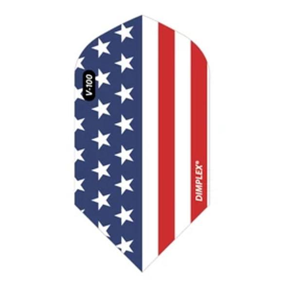 Viper Dimplex Dart Flights Slim American Flag Metallic Vertical
