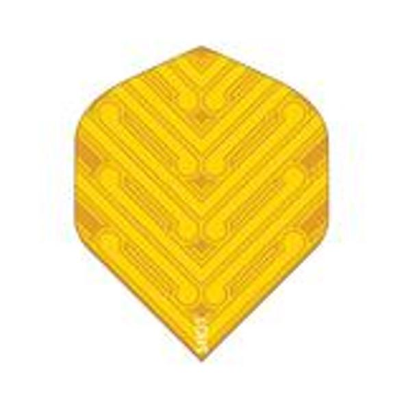 SHOT! Manu Yellow Dart Flight Set - Standard