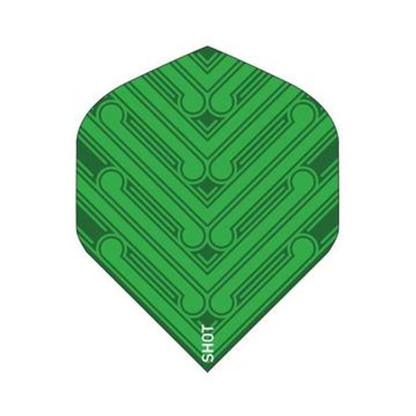 SHOT! Manu Green Dart Flight Set - Standard