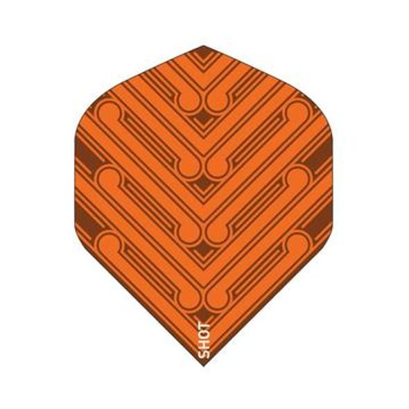 SHOT! Manu Orange Dart Flight Set - Standard