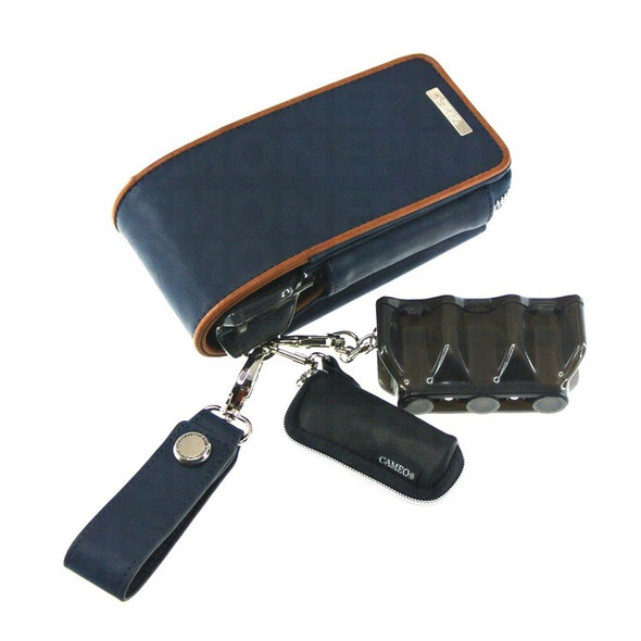 Cameo Classico Lifestyle Dart Case - Leather Navy Blue
