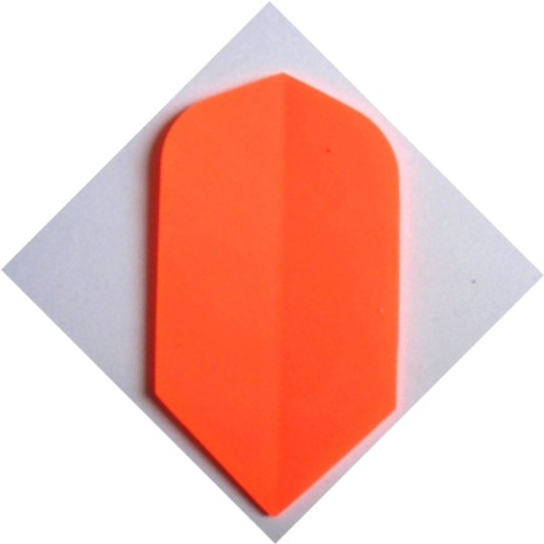 Fluorescent orange slim dart flight