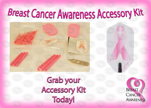 Soft/Steel Pink Breast Cancer Awareness Dart Kit
