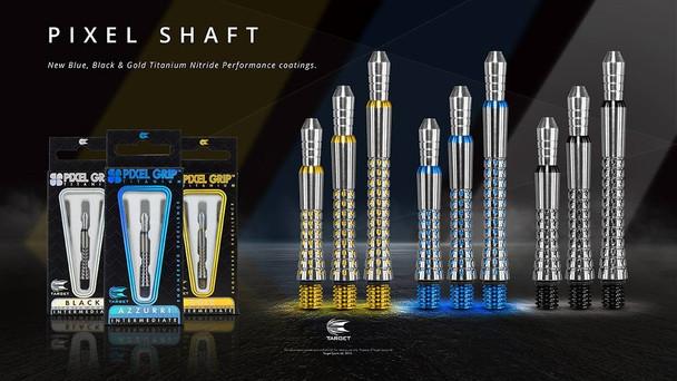 Target Black Pixel Titanium Dart Shafts - Intermediate