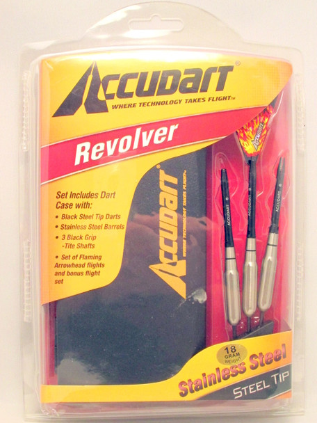 Accudart Revolver Steel Tip, Nickel Barrels, 18g