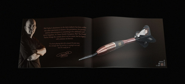 Target Phil Taylor Legacy Limited Edition Steel Tip Darts - 26g