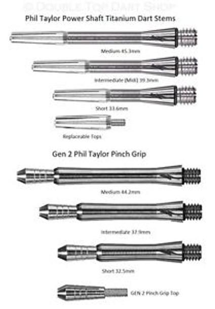 Target Phil Taylor Power Gen 1 Titanium Shaft Replacement Tops