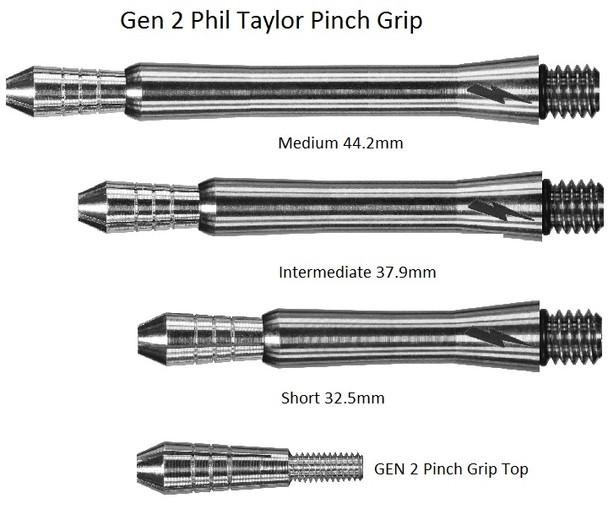 Target Phil Taylor Power Gen 2/3 Titanium Shaft Replacement Tops