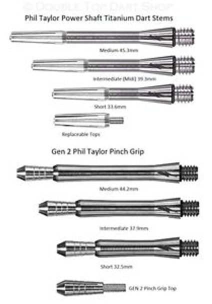 Target Phil Taylor Power Titanium Dart Shafts - Intermediate