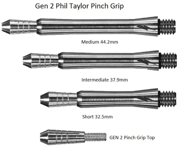 Target Phil Taylor Power Titanium Gen 2 Dart Shafts - Medium